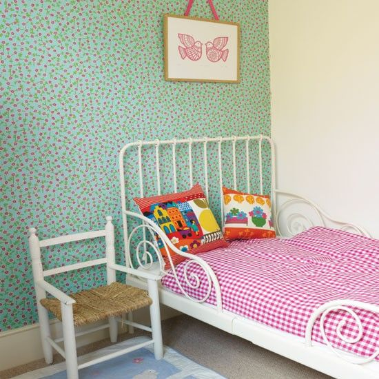 Pretty patterned girl's bedroom | Children's room decorating ideas | Children's room | Style At Home | IMAGE | Housetohome.co.uk