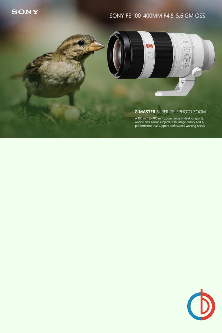 Sony Fe 100 400mm F 4 5 5 6 Gm Oss Full Frame E Mount Lens Camera Photography E Mount Sony