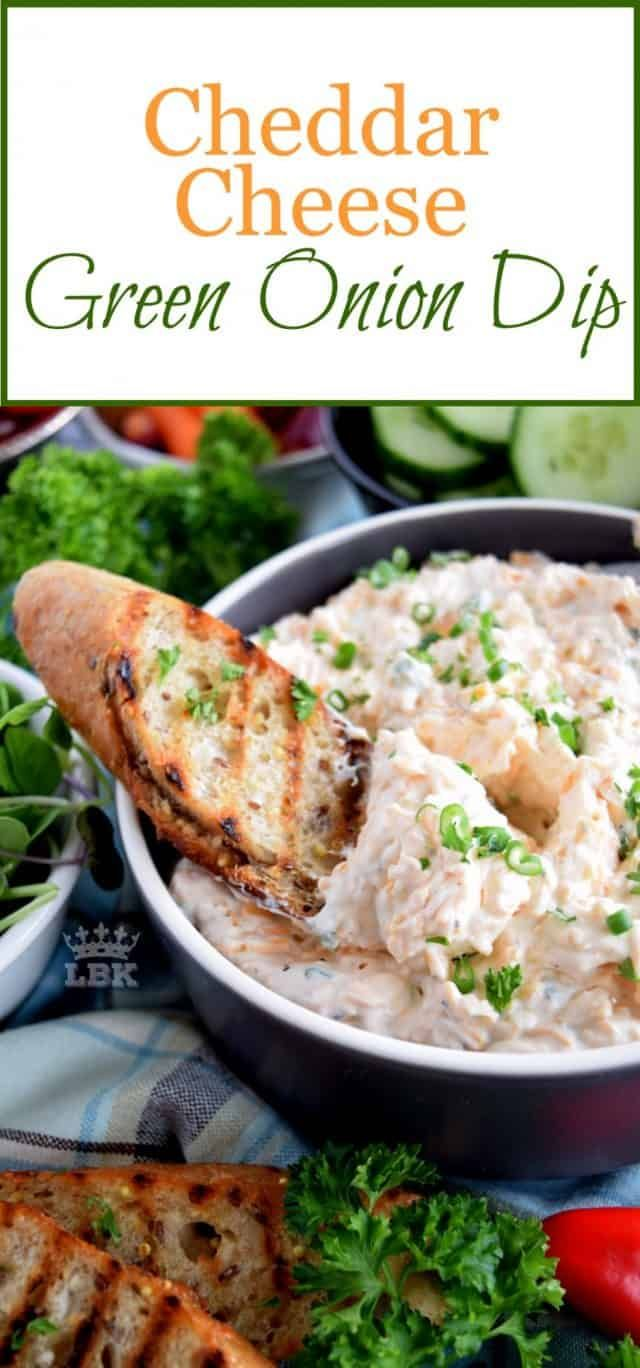 Cheddar Cheese Green Onion Dip - Lord Byron's Kitchen