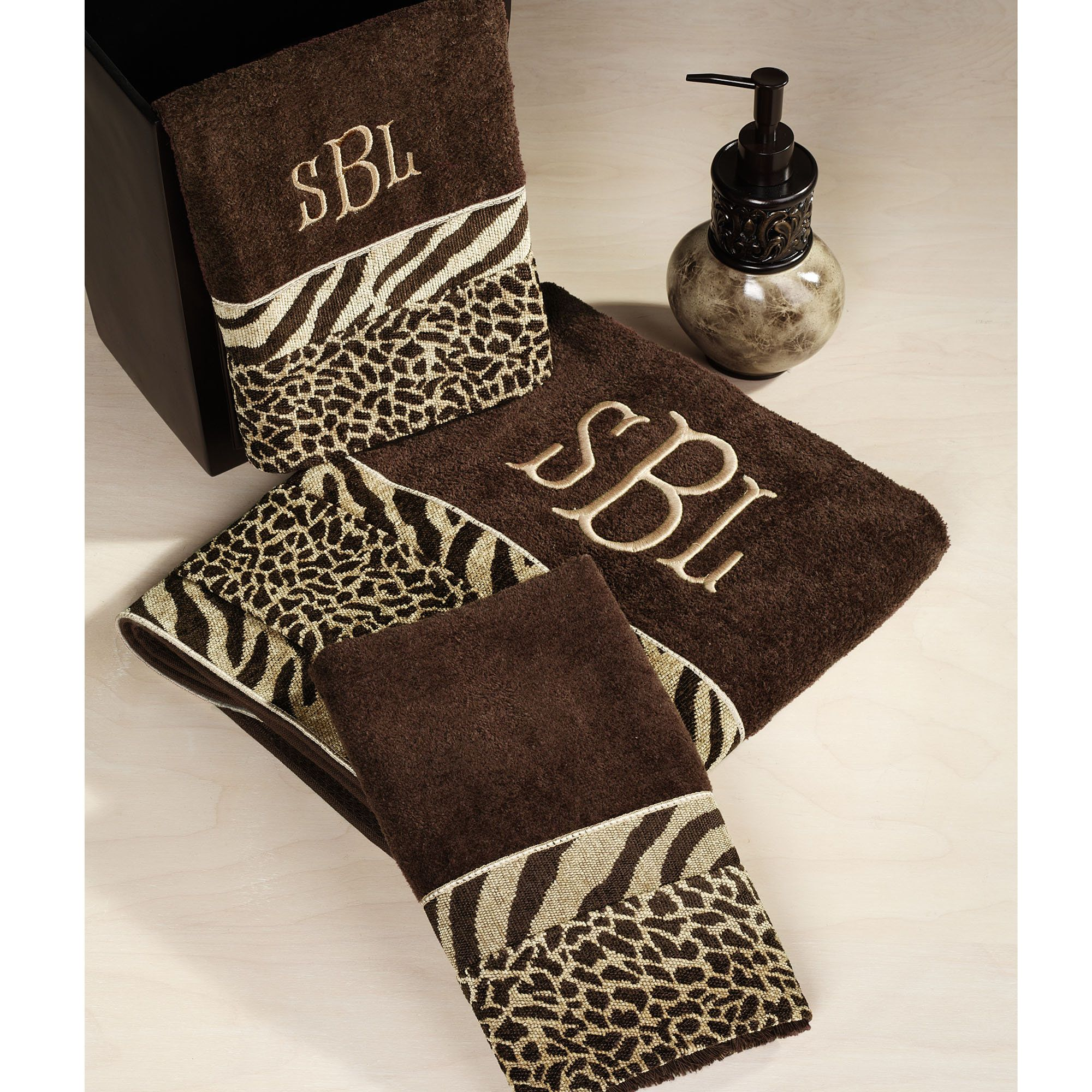 Leopard Print Bathroom Accessories Home Cheshire Towel Set Brown