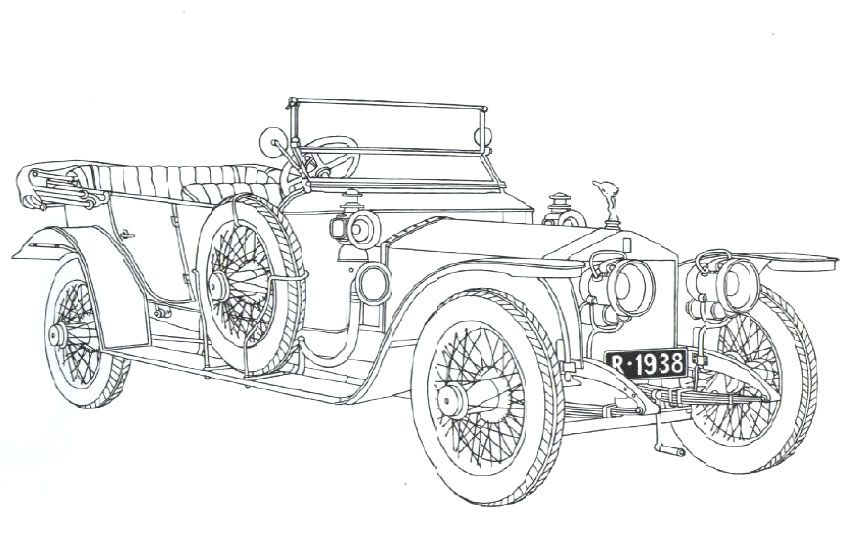 Classic Car Coloring Pages 40 50 Silver Ghost Rolls Royce Coloring Pages Cars Coloring Pages Car Colors