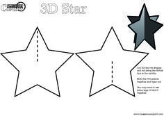 5 Best Images Of 3d Star Printable Template 3d Christmas Star Christmas Star Crafts Christmas Ornament Template Star Template