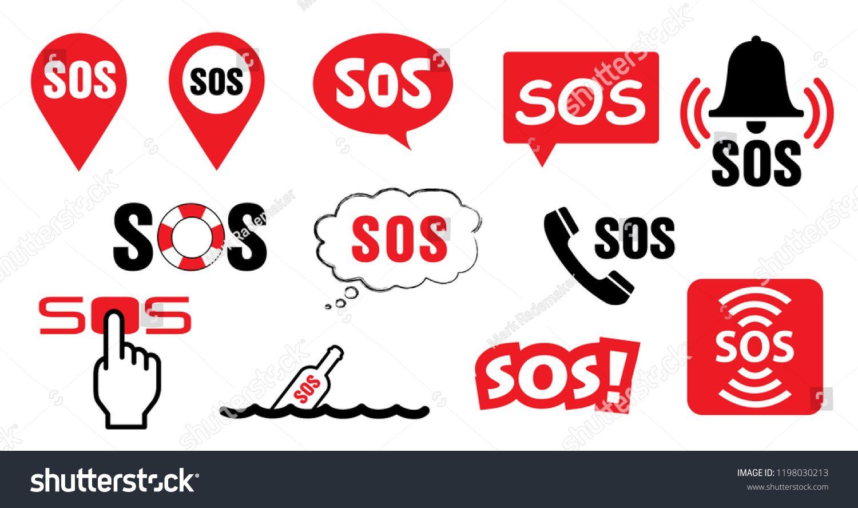 Sos Symbool Medical Logo Vector Eps Icon Sign Signs Distress