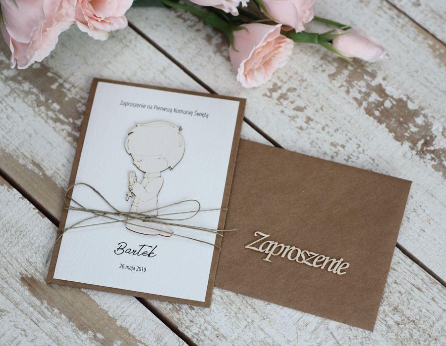 Zaproszenia Komunijne Dla Chlopca Place Card Holders Communion Place Cards