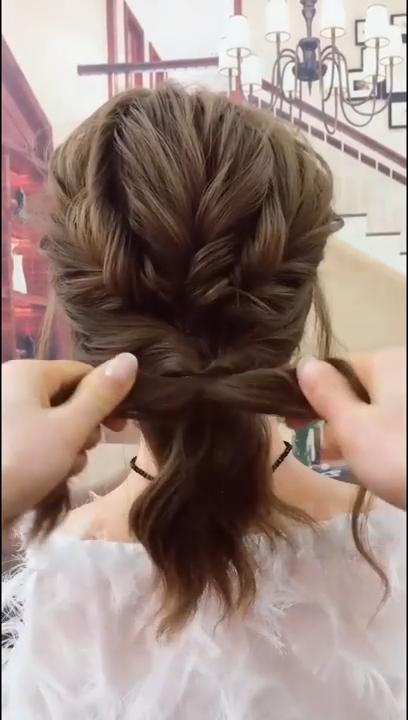 Cute And Easy Hairstyle Long Hair Styles Hair Tutorial Hair Braid Videos