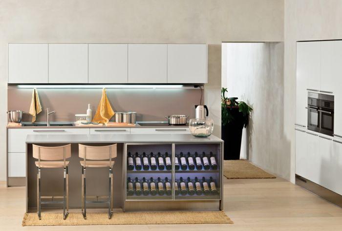Weinregal Küche einrichtungstipps weinregal küche einrichten wanddekoration