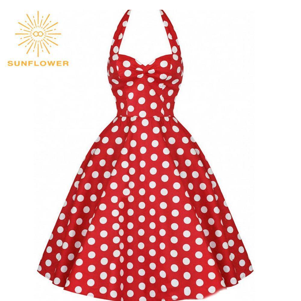 Summer Style Retro Audrey Hepburn Vestidos Woman Vintage 50s 60s ...