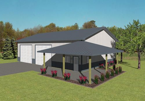 40 X 60 X 14 Agricultural With Porch At Menards Scott S Barn