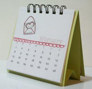 The Stamping Shac Calendar Stand How To Diy Desk Calendar Diy