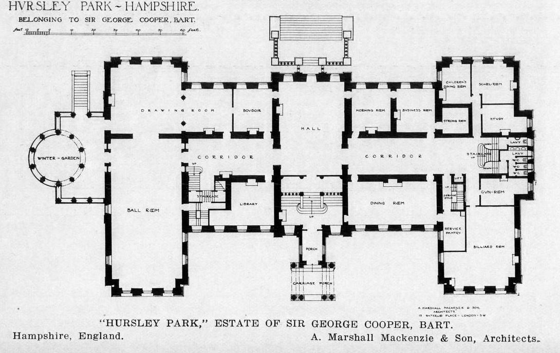 Floor Plan Of Hursley Park Hampshire Architecture Mapping How To Plan Mansion Floor Plan