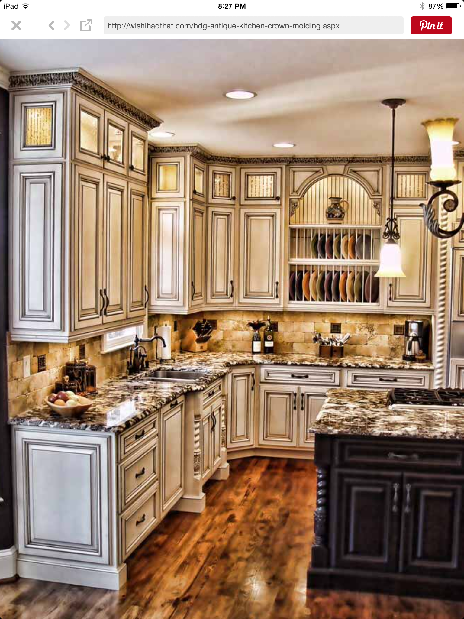 Pin By John Converse On Kitchen Rustic Kitchen Cabinets Antique White Kitchen Antique White Kitchen Cabinets