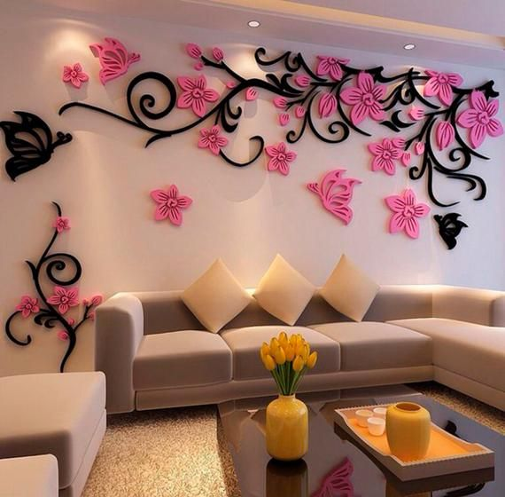 Pin On Quick Saves Living room background wall sticker