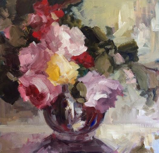 My New Paintings Vase Of Happiness Flowers Still Life