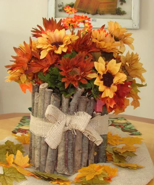 fall flower arrangements and thanksgiving table decorations Ideas