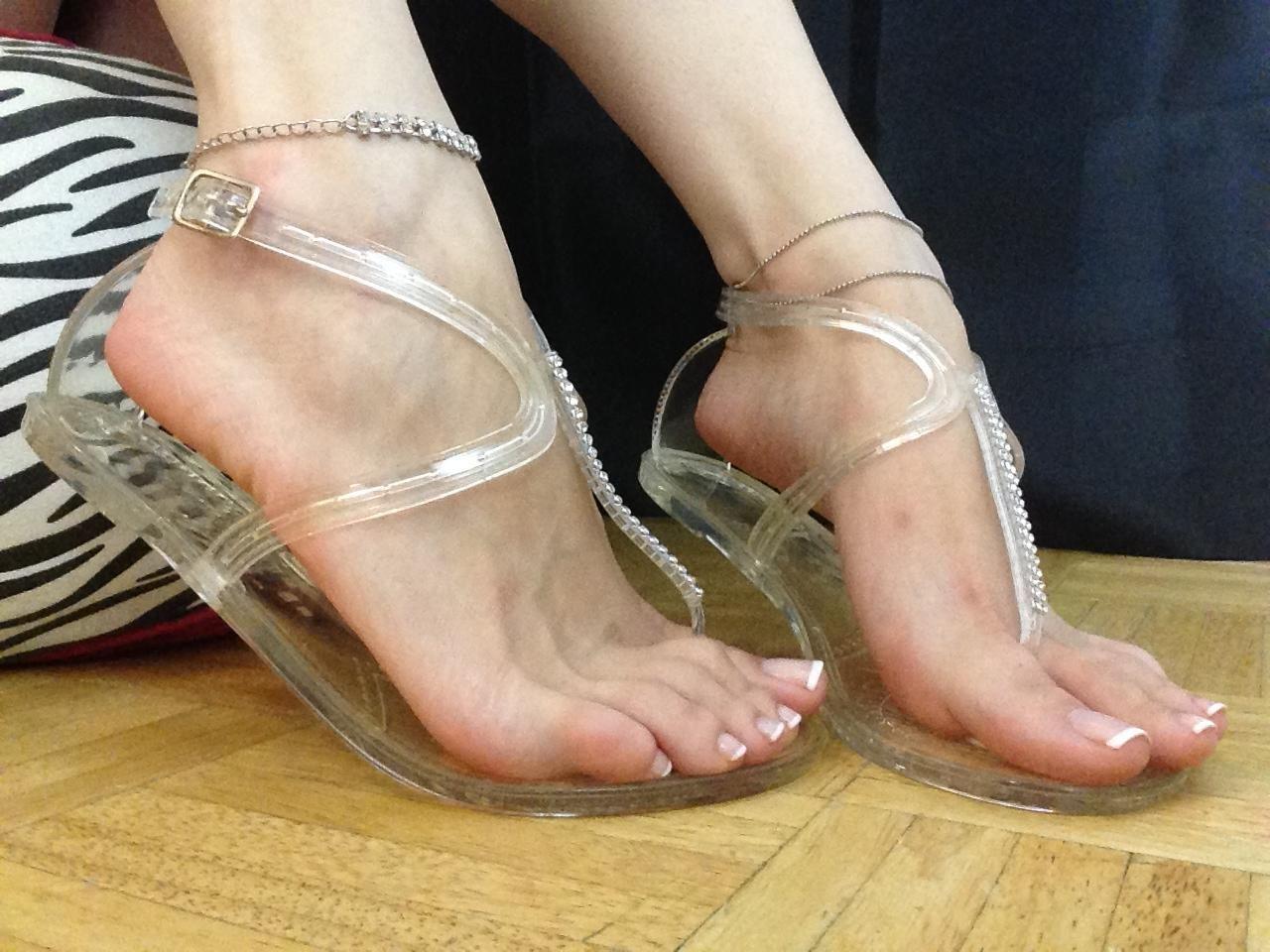 Candid Latina Feet Sandals