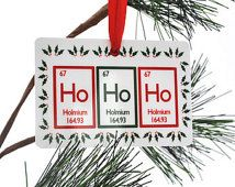 Ho Periodic Table Christmas Ornament Science Chemistry Geek Wine Diy Ornaments