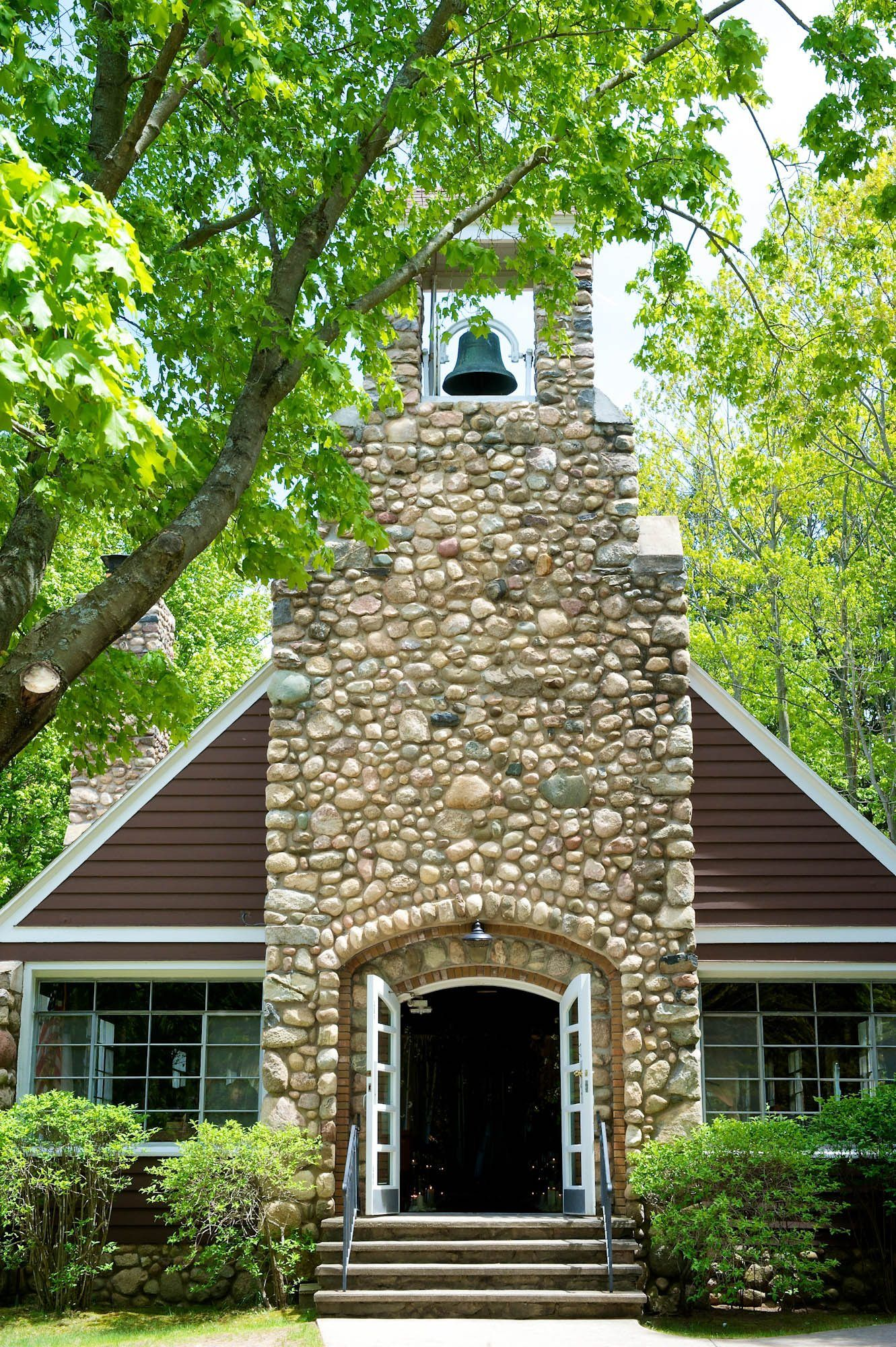 Little Point Stable Stone Church In Shelby, Michigan Is One