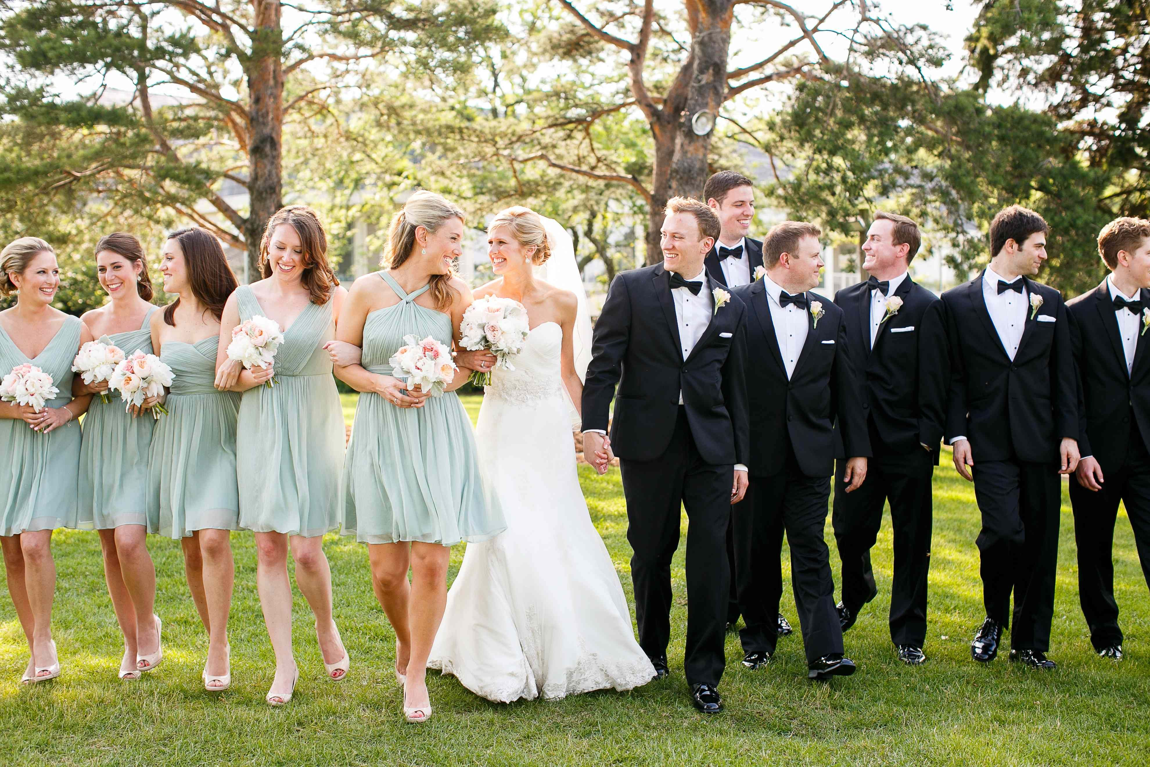 Bridal party wedding inspiration pinterest dusty shale bridal party ombrellifo Choice Image