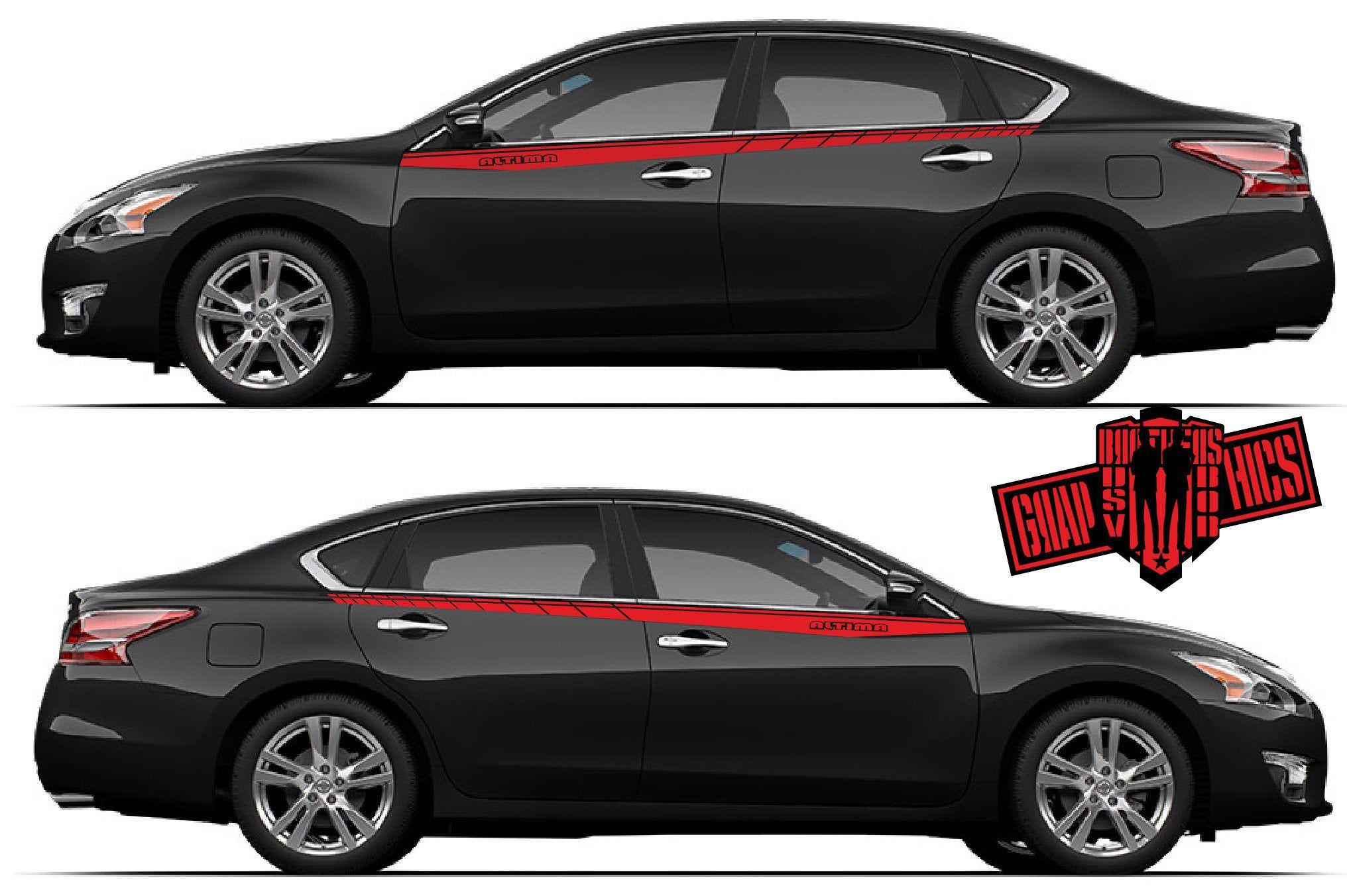 Sport Sticker Decal Side Door Stripes For Nissan Altima Etsy Nissan Altima Altima Nissan