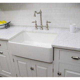 fine fixtures fireclay sutton 2325 inch white farmhouse kitchen sink free shipping today. Interior Design Ideas. Home Design Ideas