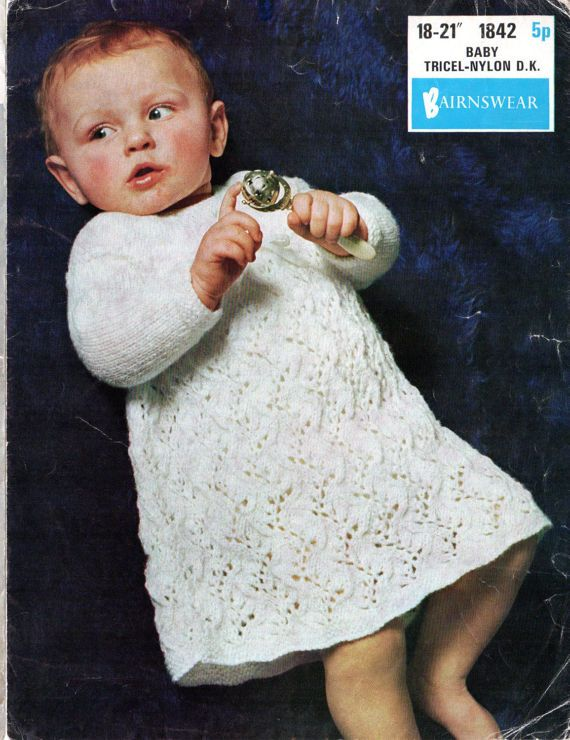 Baby Dress Knitting patterns, baby girls knitting patterns, heirloom ...