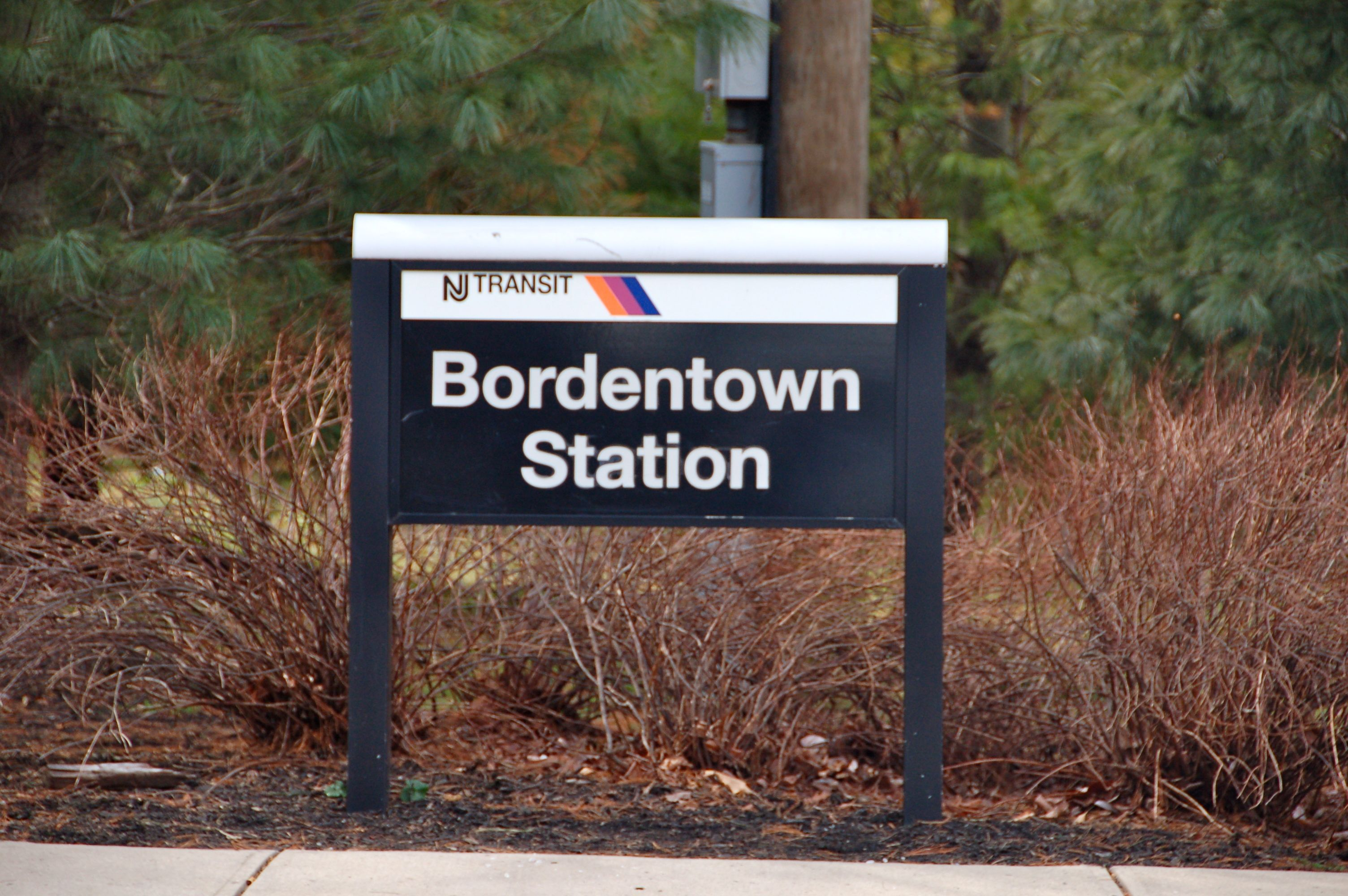 Bordentown is on the NJ Transit Light Rail line  Hop on the