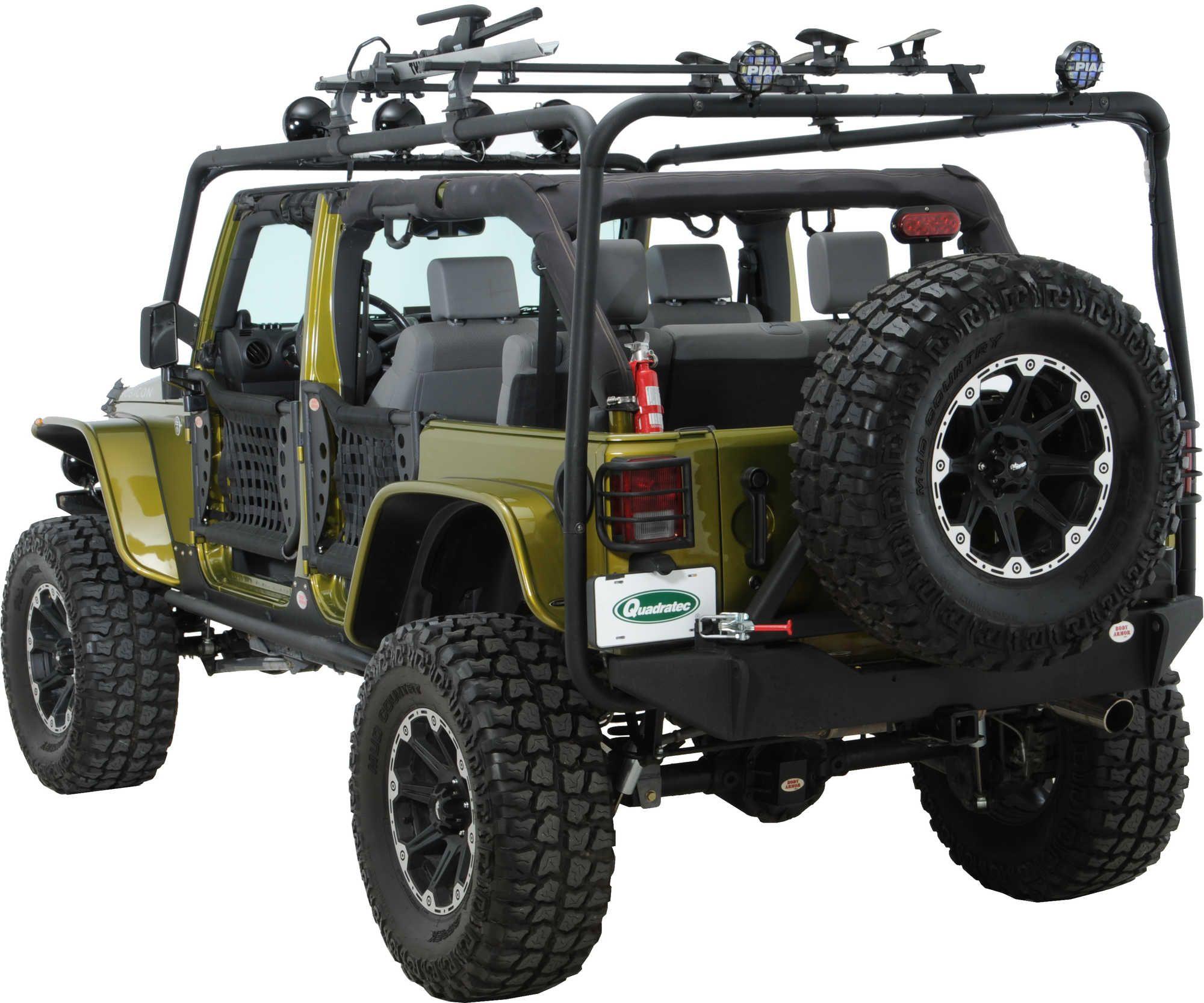 Body armor 4x4 roof rack base kit for 07 16 jeep wrangler jk 2
