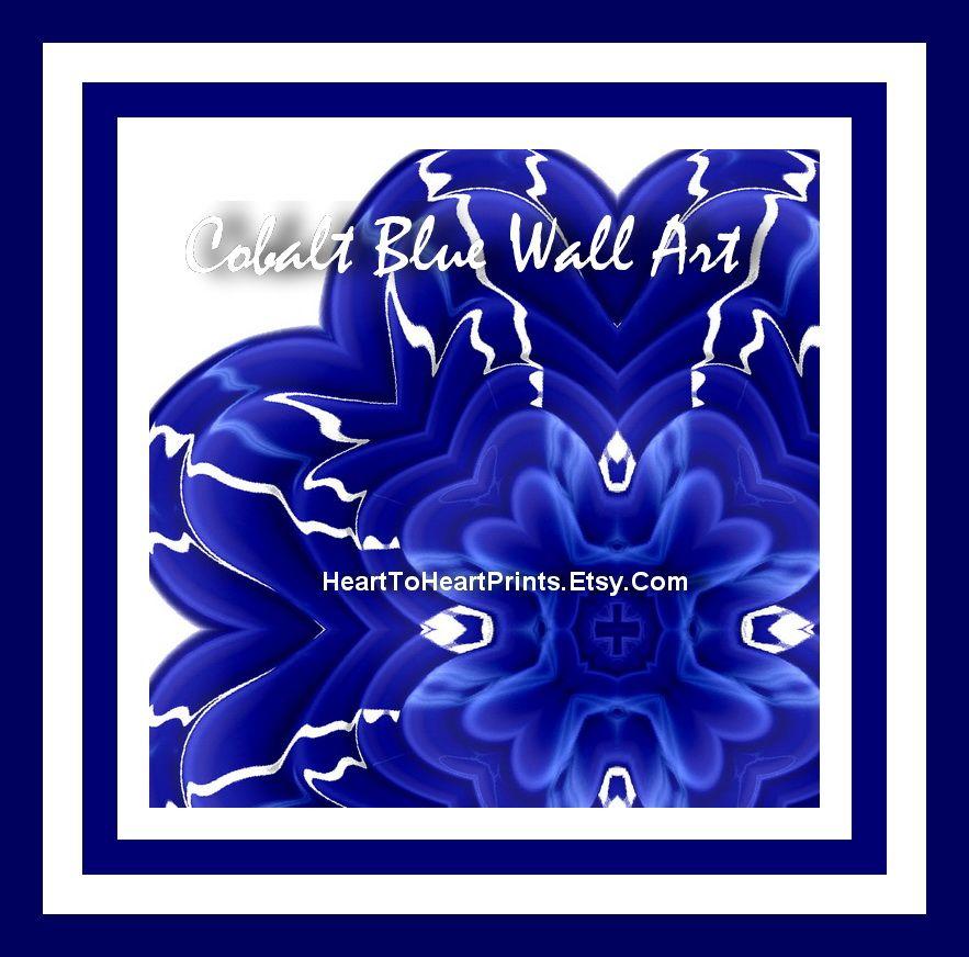 Royal Blue Kitchen: Cobalt Blue Wall Art, Cobalt Blue Wall Decor, Cobalt Blue