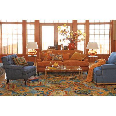 Company C Devonshire Lapis Area Rug Elegant Living Room Design