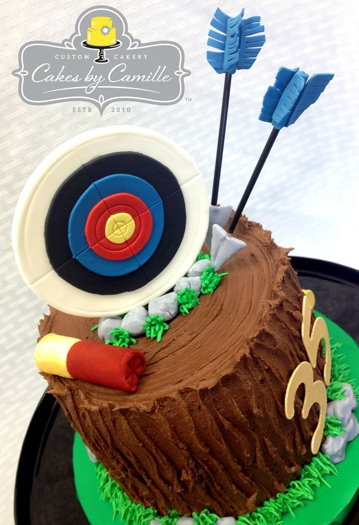 Bow Hunter Birthday Cake Cakes By Camille Hunting Cake