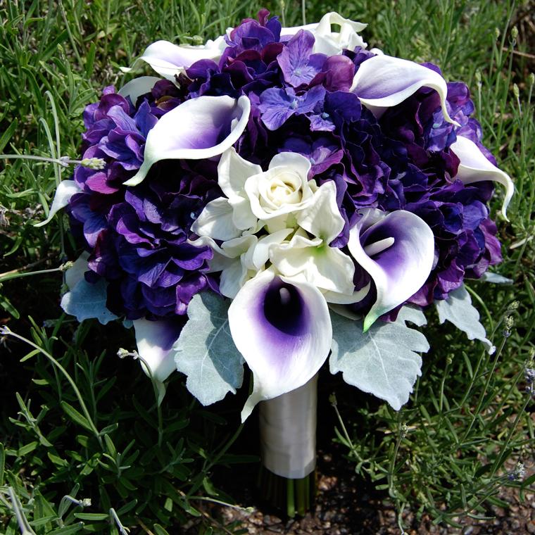 calla lily and hydrangias | Picasso Calla lilies, Hydrangea, Dendrobium and Mini Roses, Collared ...