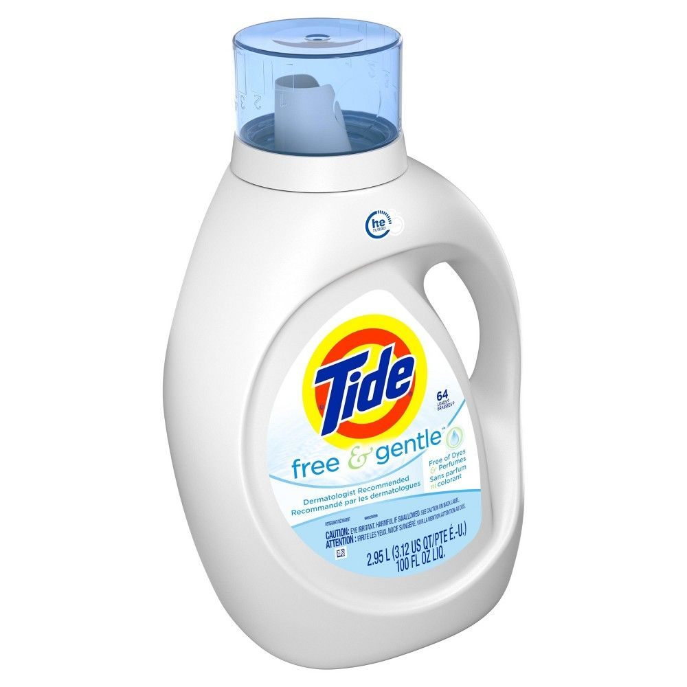 Tide Free And Gentle High Efficiency Liquid Laundry Detergent 100 Fl Oz Laundry Liquid Tide Free And Gentle Liquid Laundry Detergent