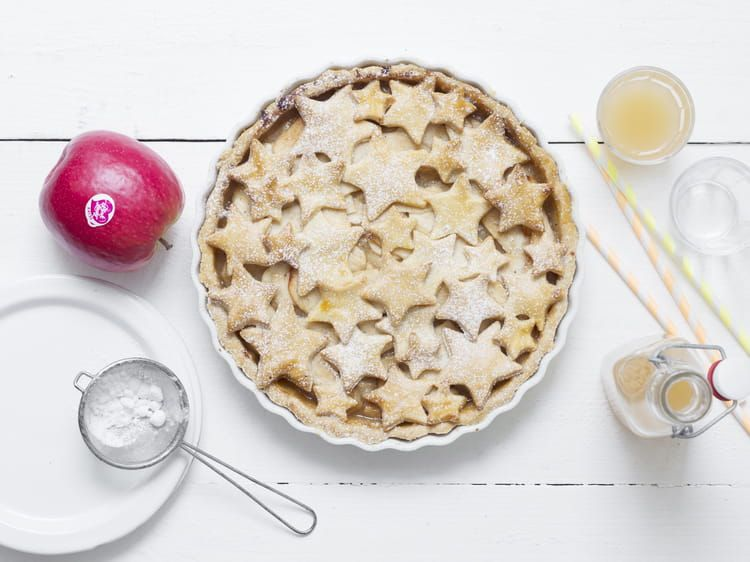 Recette De Tarte Etoilee Aux Pommes A La Cannelle Et A La Vanille Recette Recette Tarte Tarte Tarte Aux Pommes
