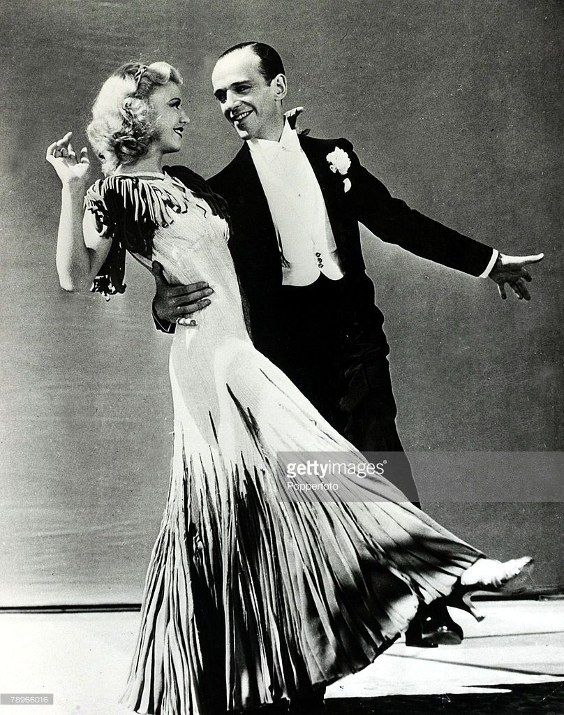 circa 1930's, American duo Fred Astaire and his dancing