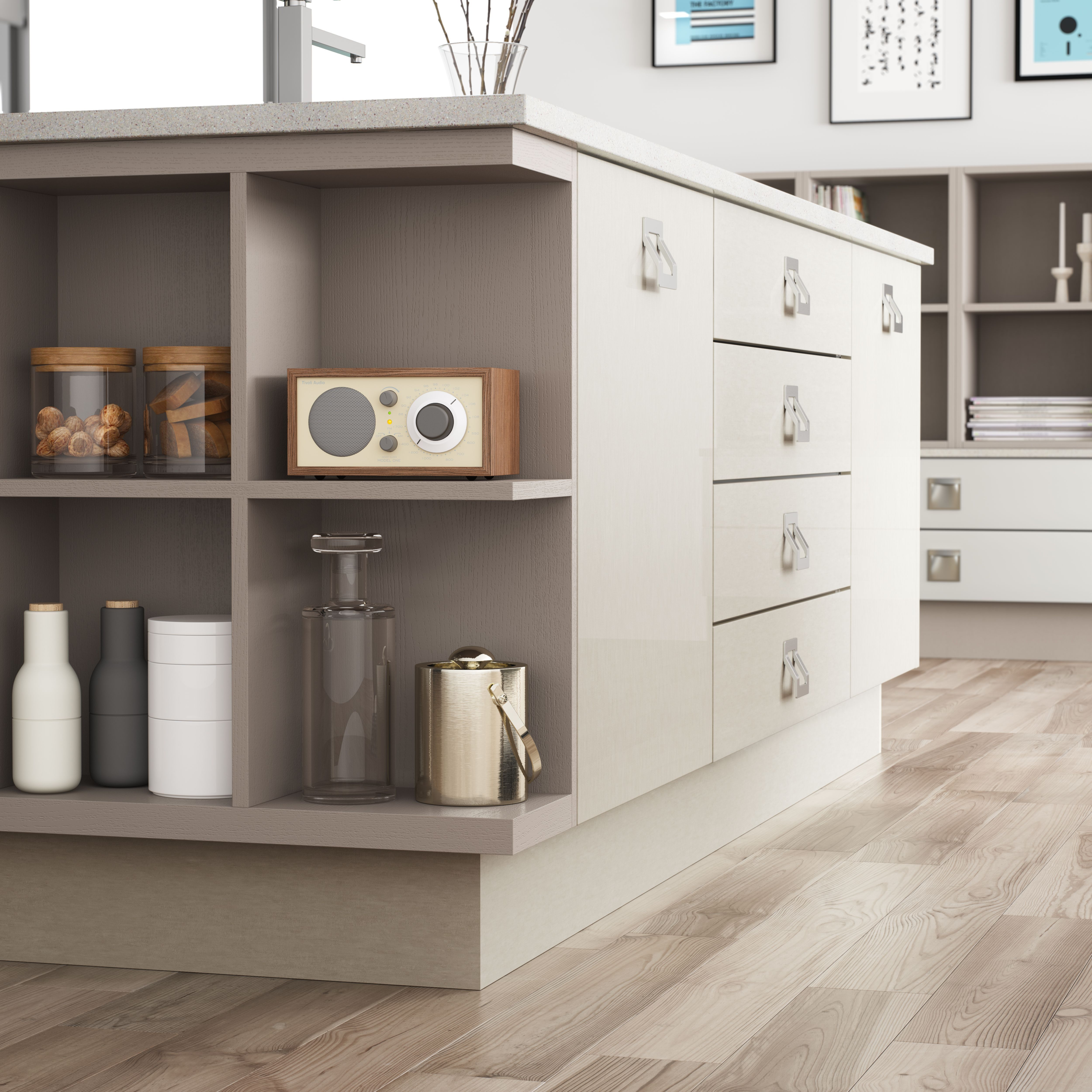 open end display unit mereway kitchens pinterest display