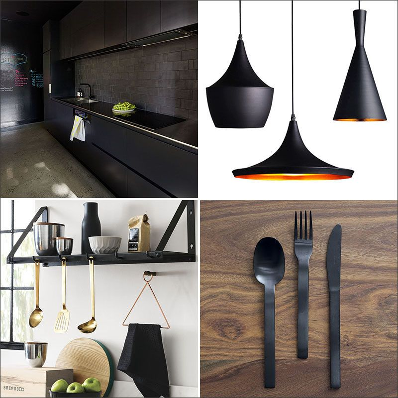A Matte Black Kitchen Makes A Bold Statement In This: 11 Ways To Introduce Black Into Your Kitchen (With Images