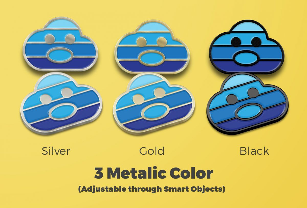 10 Free Enamel Pin Mockup PSD Designs - Mashtrelo | Design