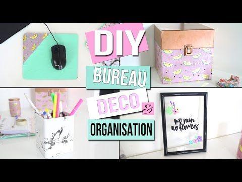 Diy ┋deco et organisation de bureau recyclez vos vieilles