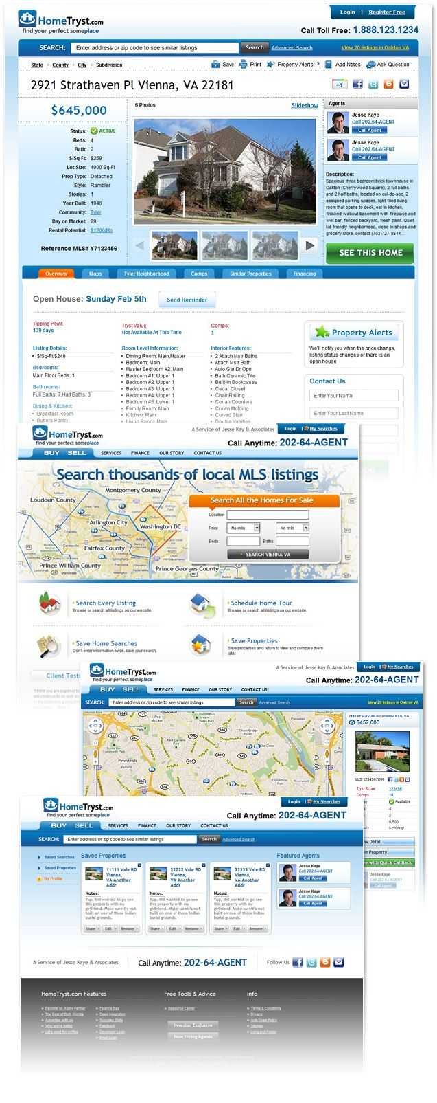 Real Estate Broker Website Design In Dc Virginia And Maryland Financial Website Web Design Firm Custom Website Design