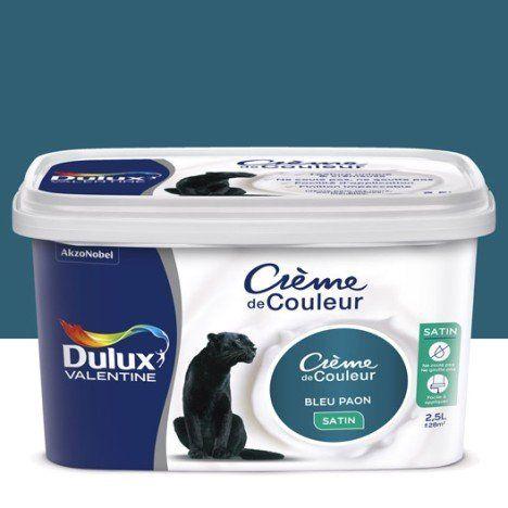 Peinture bleu paon satin DULUX VALENTINE Crème de couleur 25 l - traitement humidite mur exterieur