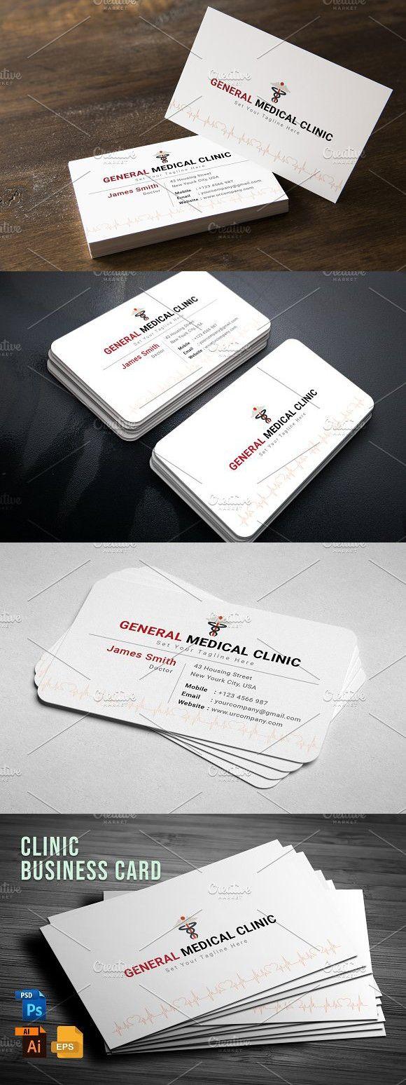 Clinic Business Card Design Cards Visit Carte De Visite