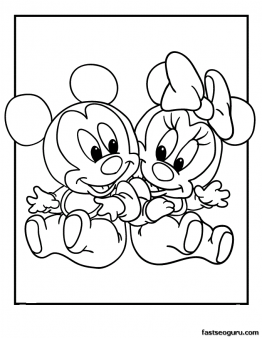 Free Printable Mickey and Minnie Disney Babies Coloring ...