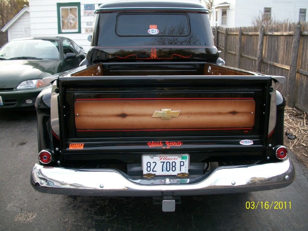 Custom pickup trucks this is our 1955 chevy pickup we restored from the ground