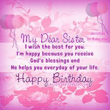 Image Result For Happy Birthday Sister With Images Sister