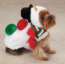 Casual Canine Snowman Dog Coat Costume Jacket Xxs Xl Christmas