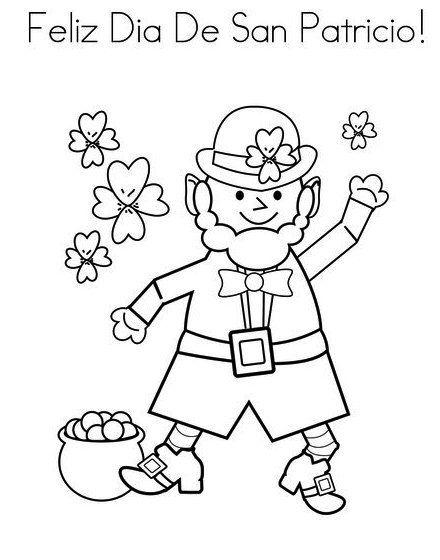 Feliz Dia De San Patricio St Patrick Day Coloring Sheet | holiday ...