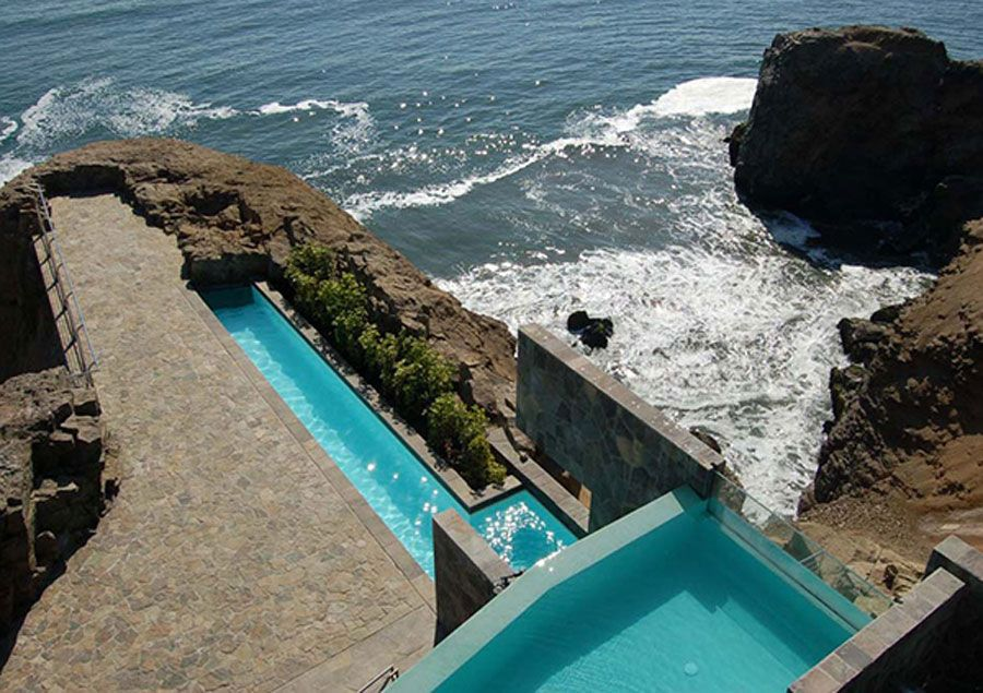 Modern Beach House On Top Sea Cliff Architecture Smart
