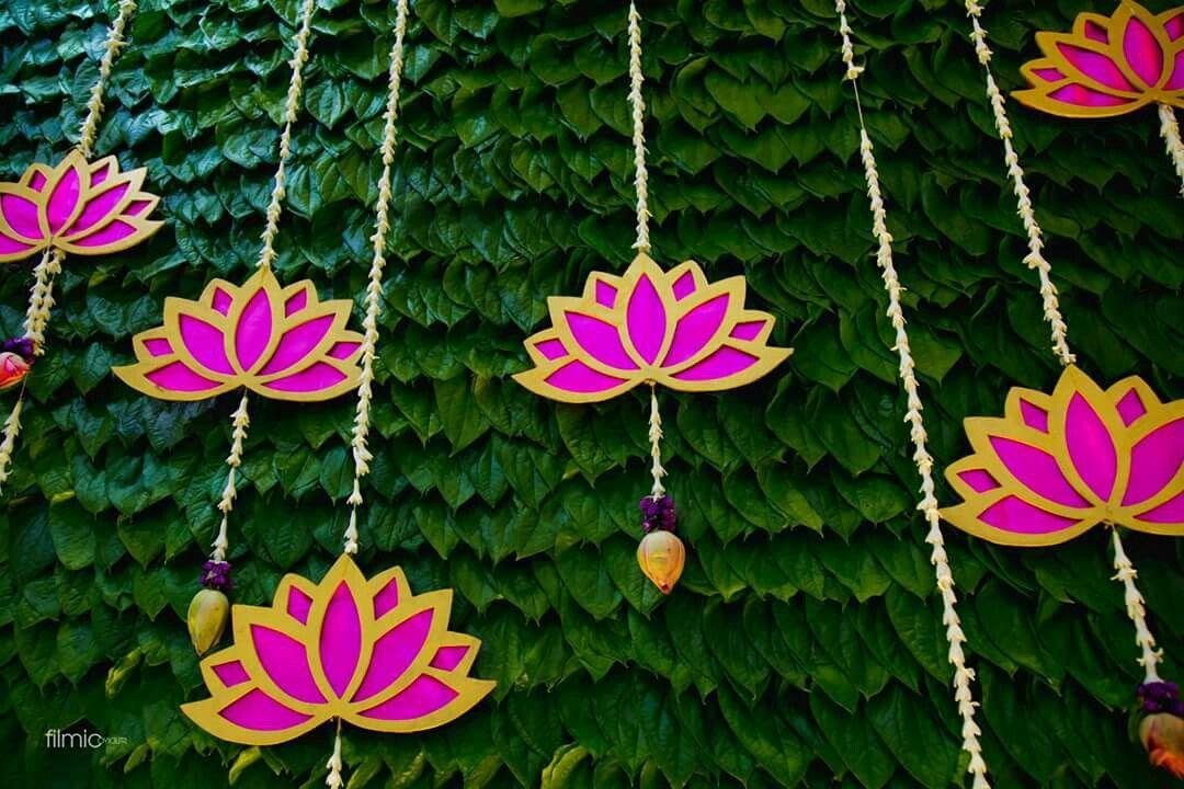 Perfect lotus Wedding backdrop decorations, Diy diwali