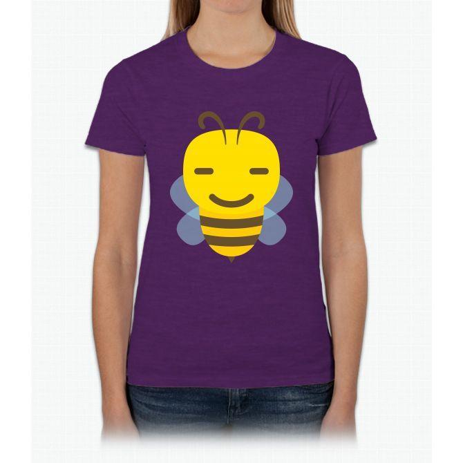 Bee Emoji Secretly Happy Look Bee Movie Womens T-Shirt