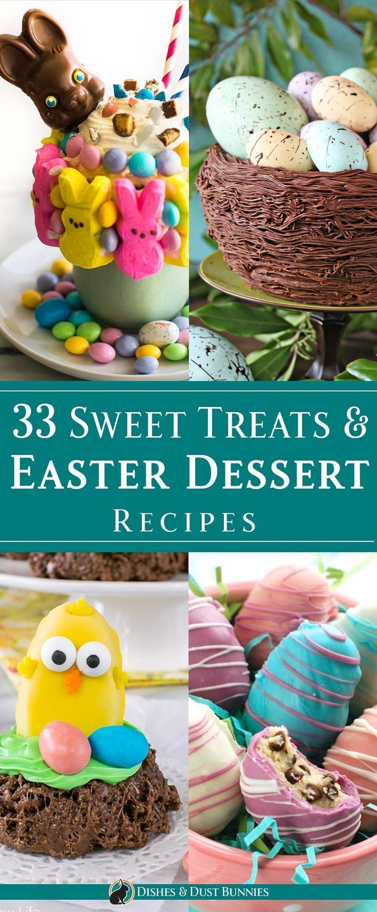 33 Sweet Treats & Easter Dessert Recipes via @mvdustbunnies
